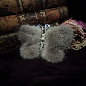 Fur Butterfly Brooch